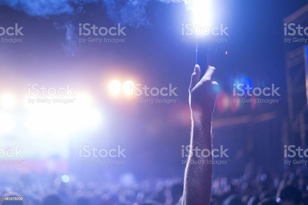 Nightclub crowd stock photo