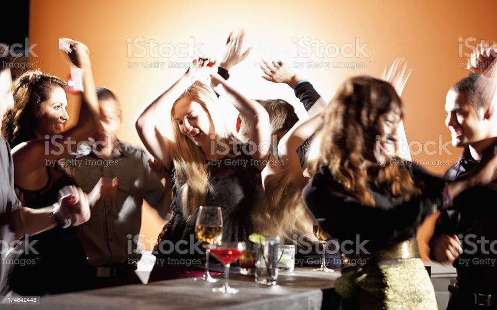 Nightclub dancing stock photo