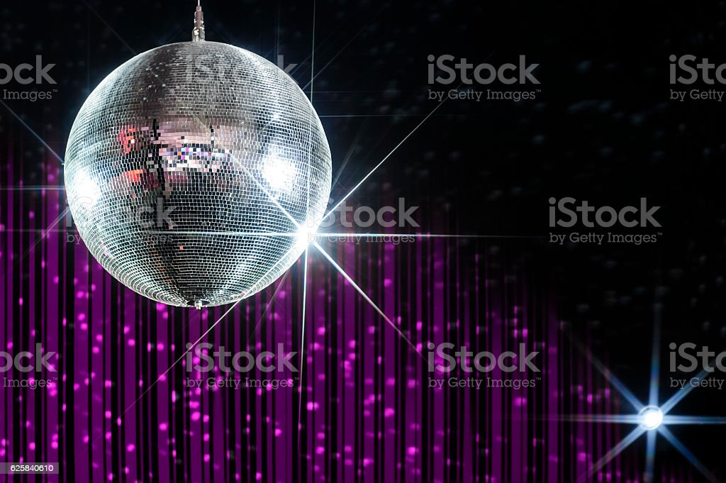 Nightclub disco ball stock photo