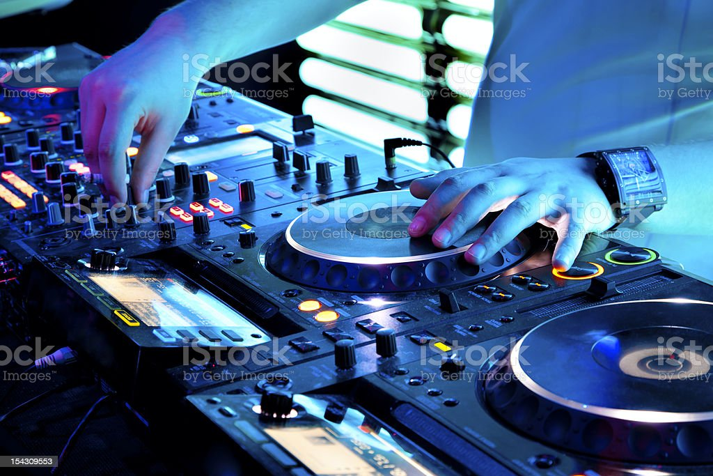 Nightclub in Moscow at party royalty-free stock photo