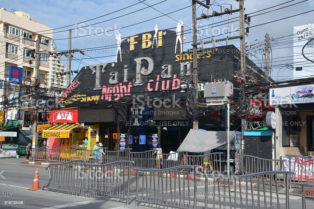 Nightclub in Patong beach, Phuket, Thailand stock photo