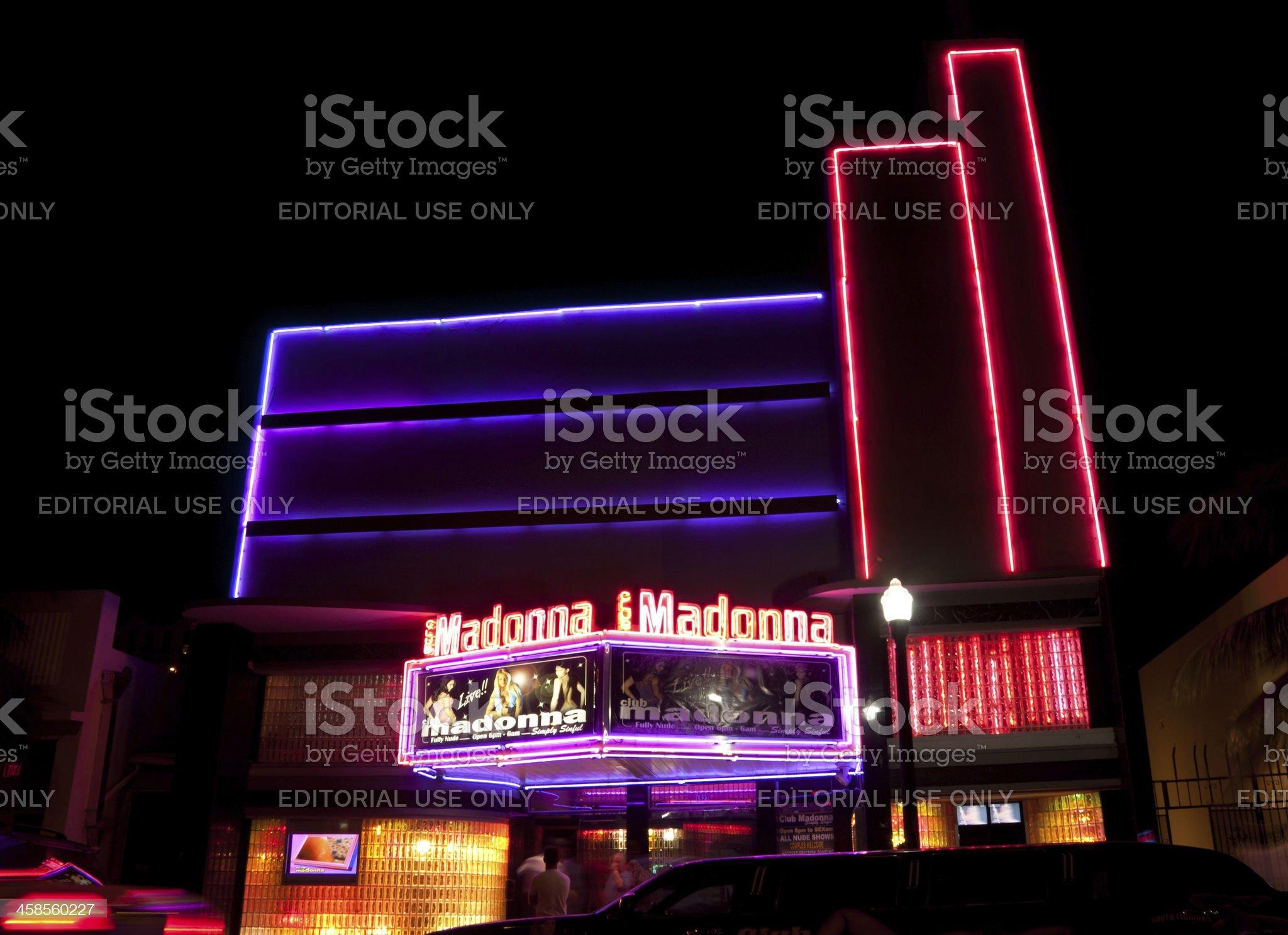 Nightclub Madonna @ Ocean Drive, Miami royalty-free stock photo