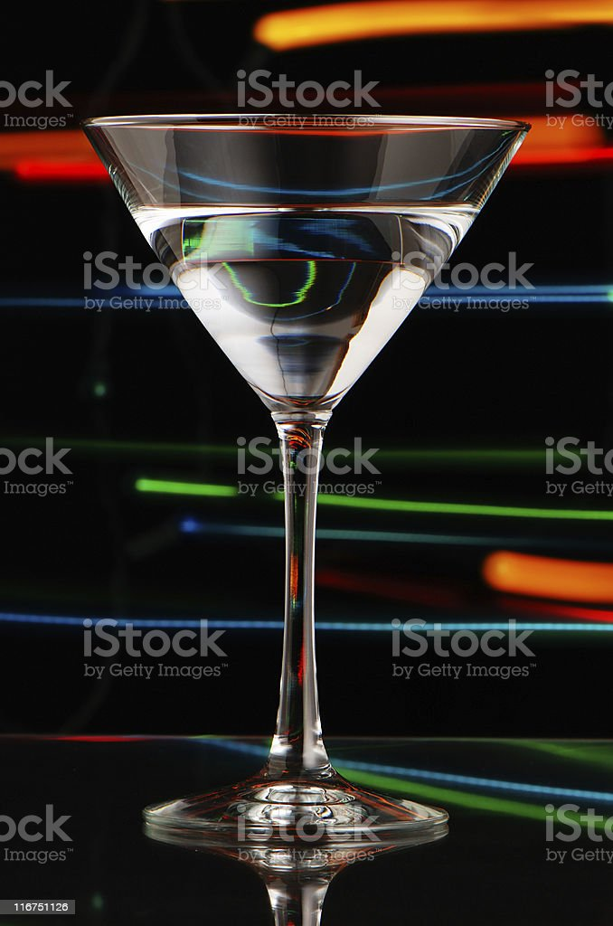Nightclub martini royalty-free stock photo
