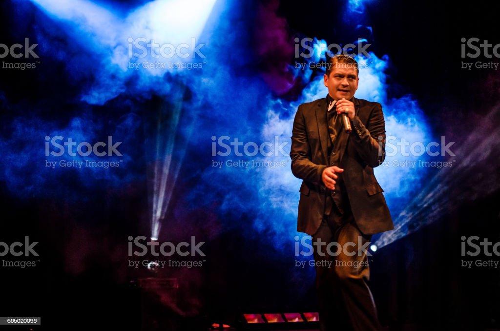 A nightclub singer stock photo