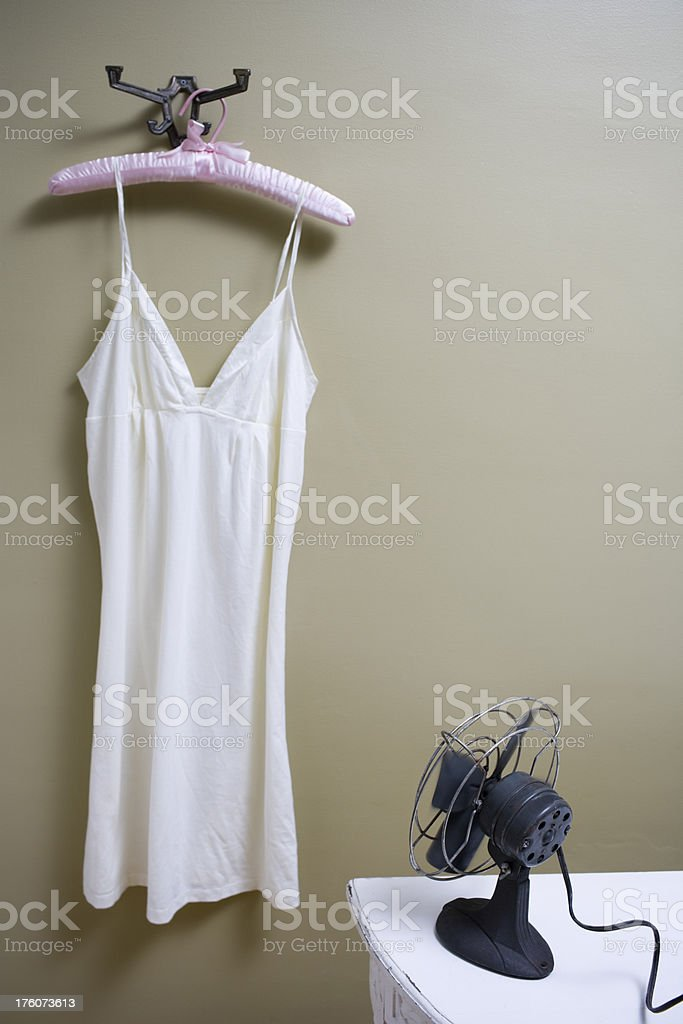 Nightgown hanging royalty-free stock photo