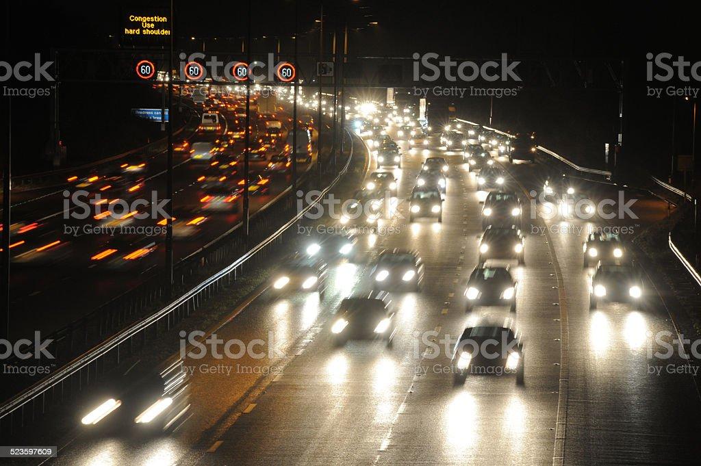 Nightime Motorway stock photo