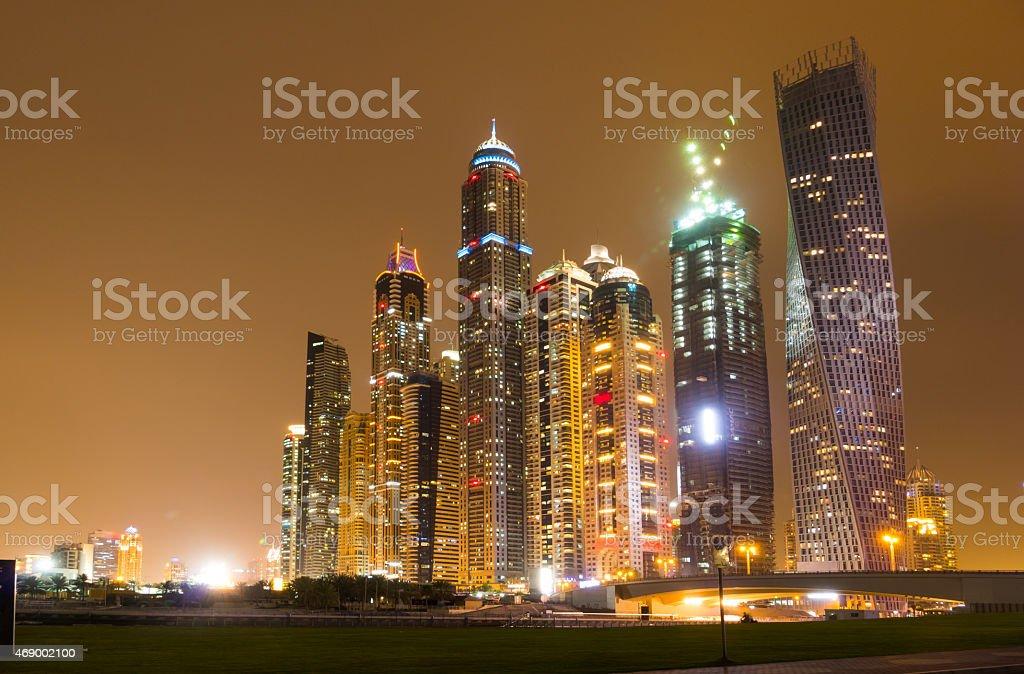 Nightlife in Dubai stock photo