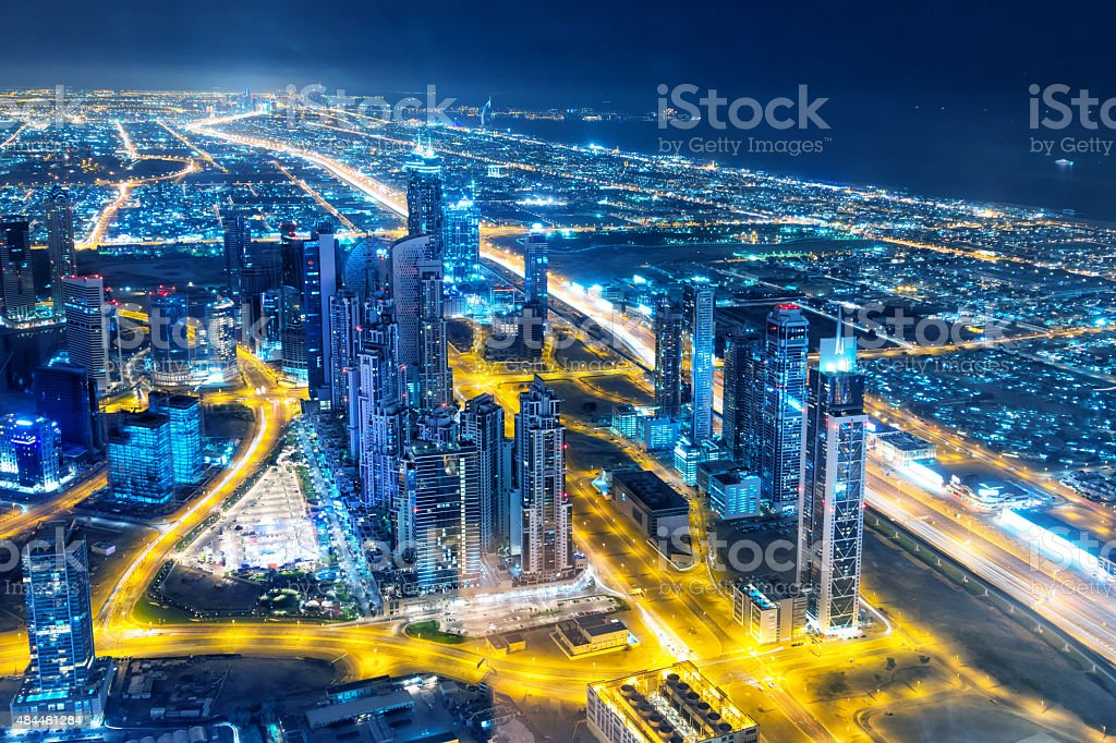Nightlife in Dubai stock photo