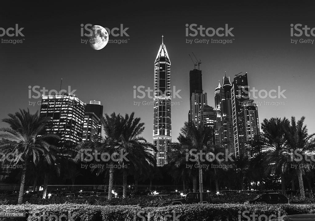 Nightlife in Dubai. UAE. November 18, 2012 royalty-free stock photo