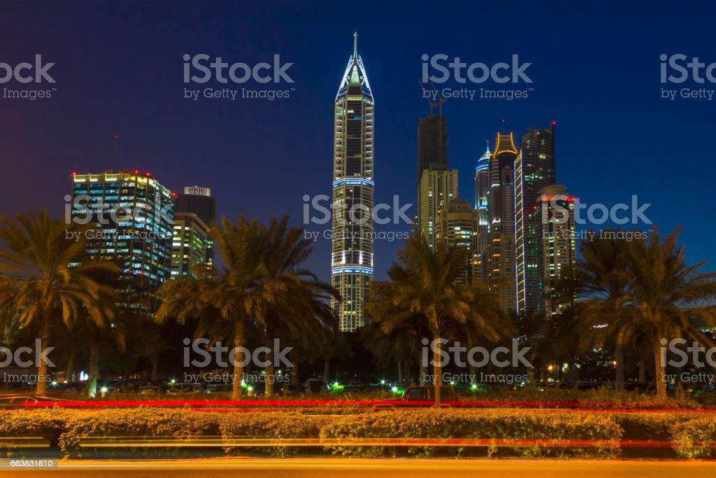 Nightlife in Dubai. UAE. November 18, 2012 stock photo