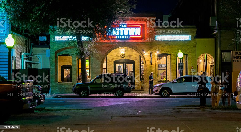 Nightlife in Gainesville, Florida stock photo