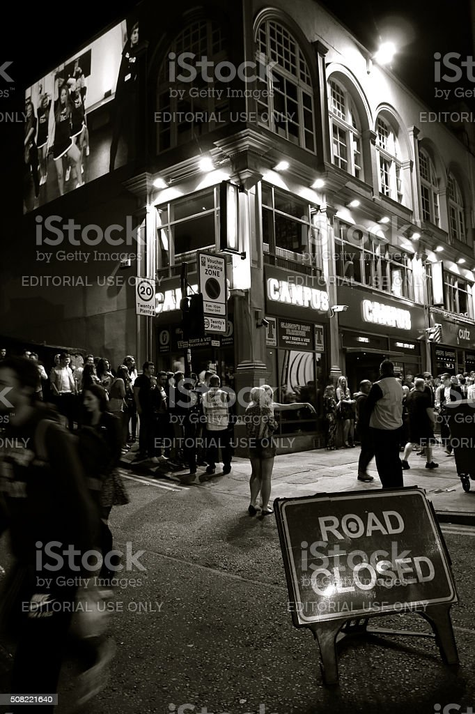 Nightlife in Glasgow stock photo