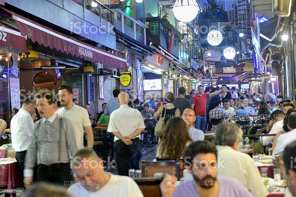 Nightlife in Istanbul stock photo