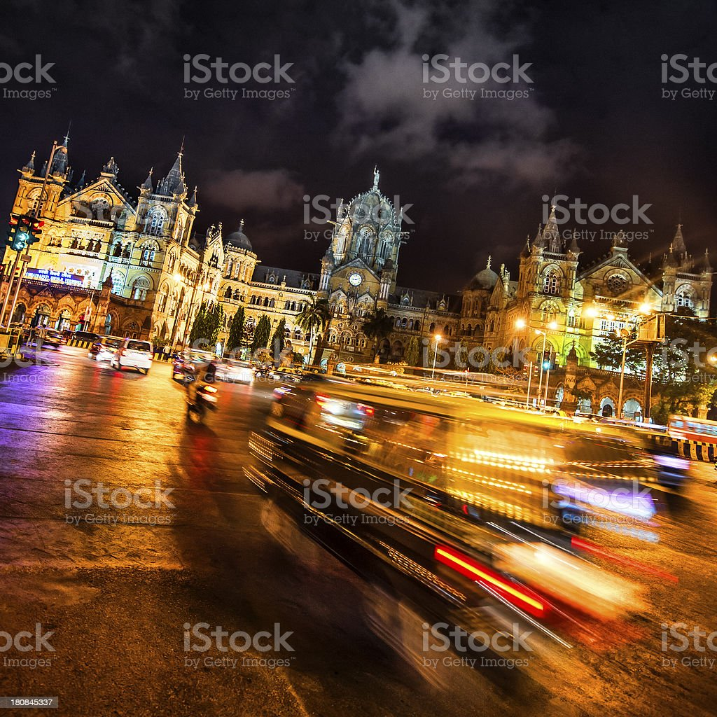 Nightlife in Mumbai stock photo