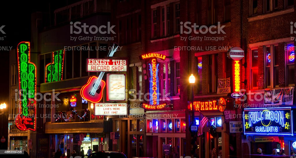 Nightlife in Nashville, Tennessee stock photo