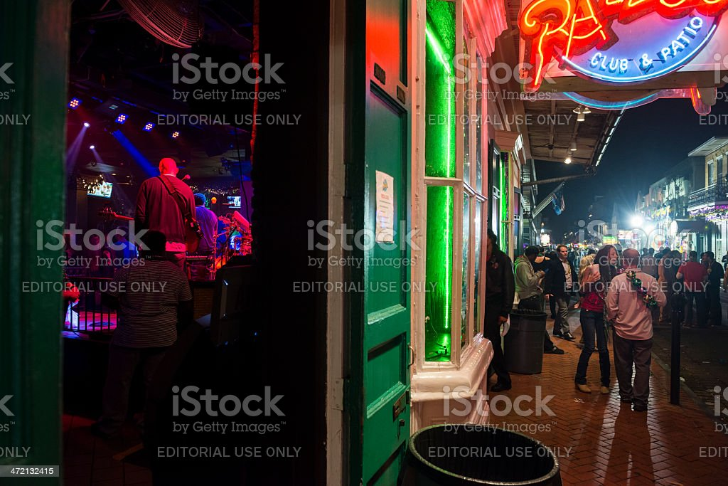 Nightlife in New Orleans royalty-free stock photo