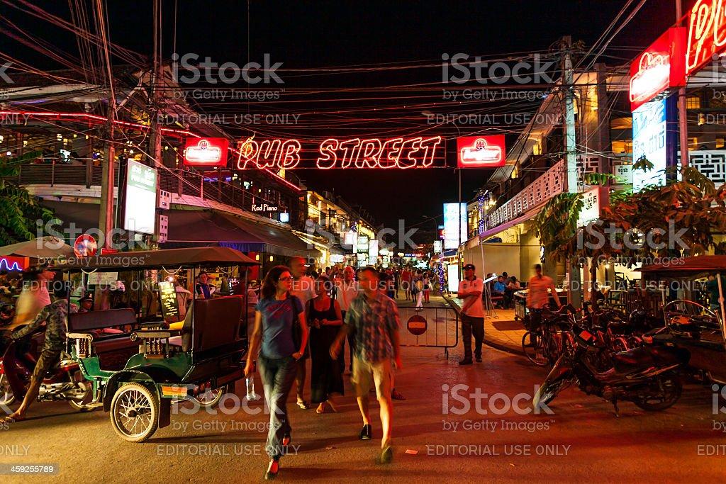 Nightlife in Siem Reap, Angkor, Cambodia royalty-free stock photo