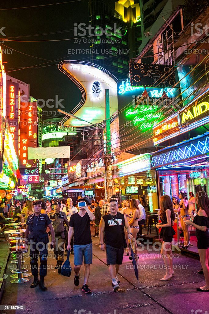 Nightlife In Soi Cowboy, Bangkok, Thailand stock photo