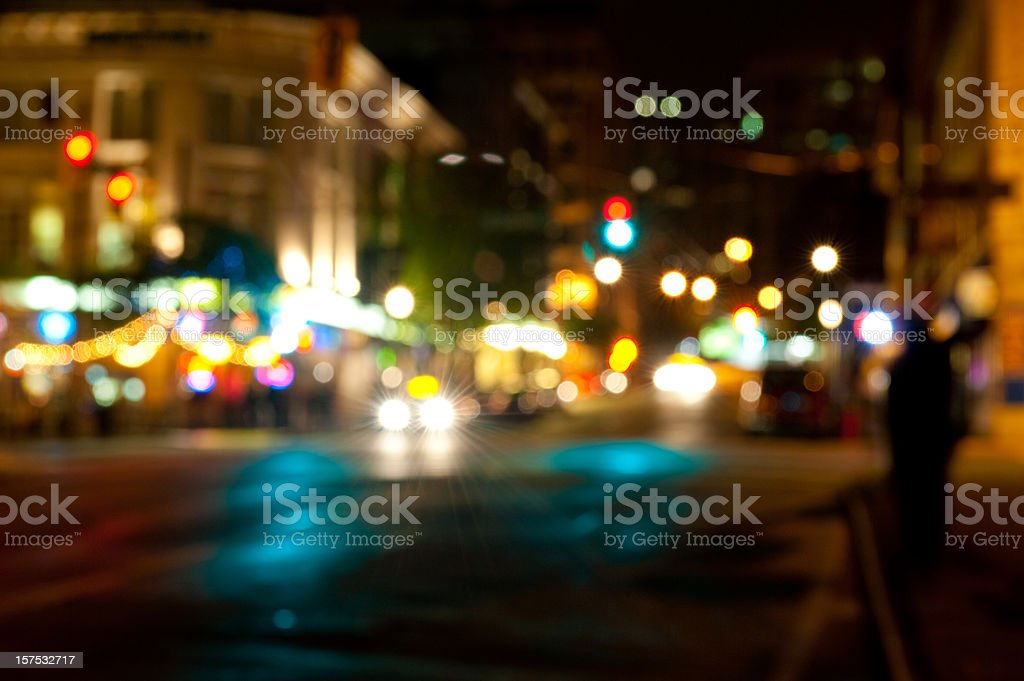 Nightlife in the city royalty-free stock photo