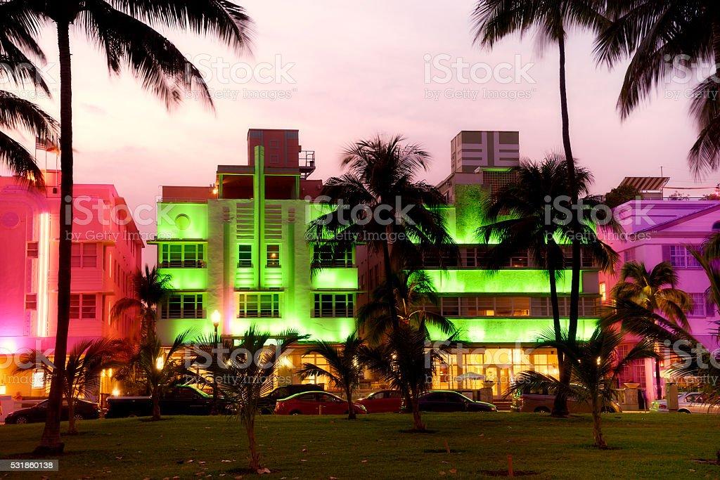 Nightlife, Ocean Drive, Miami stock photo