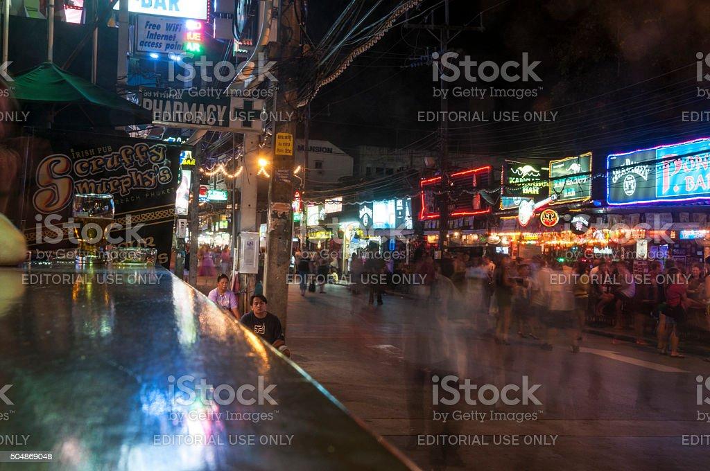 Nightlife On Bangla Road In Phuket, Thailand stock photo