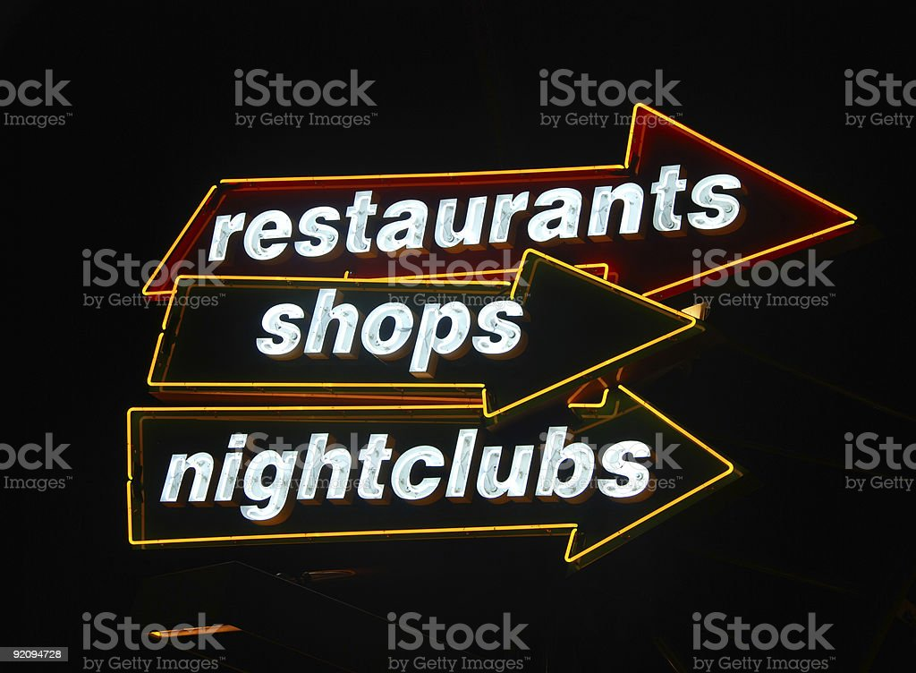 Nightlife signs royalty-free stock photo