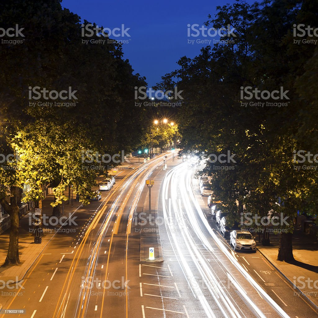 Nightride in London stock photo