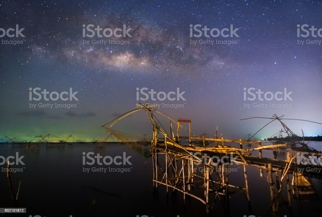 nightscape at Phatthalung Province , Thailand stock photo
