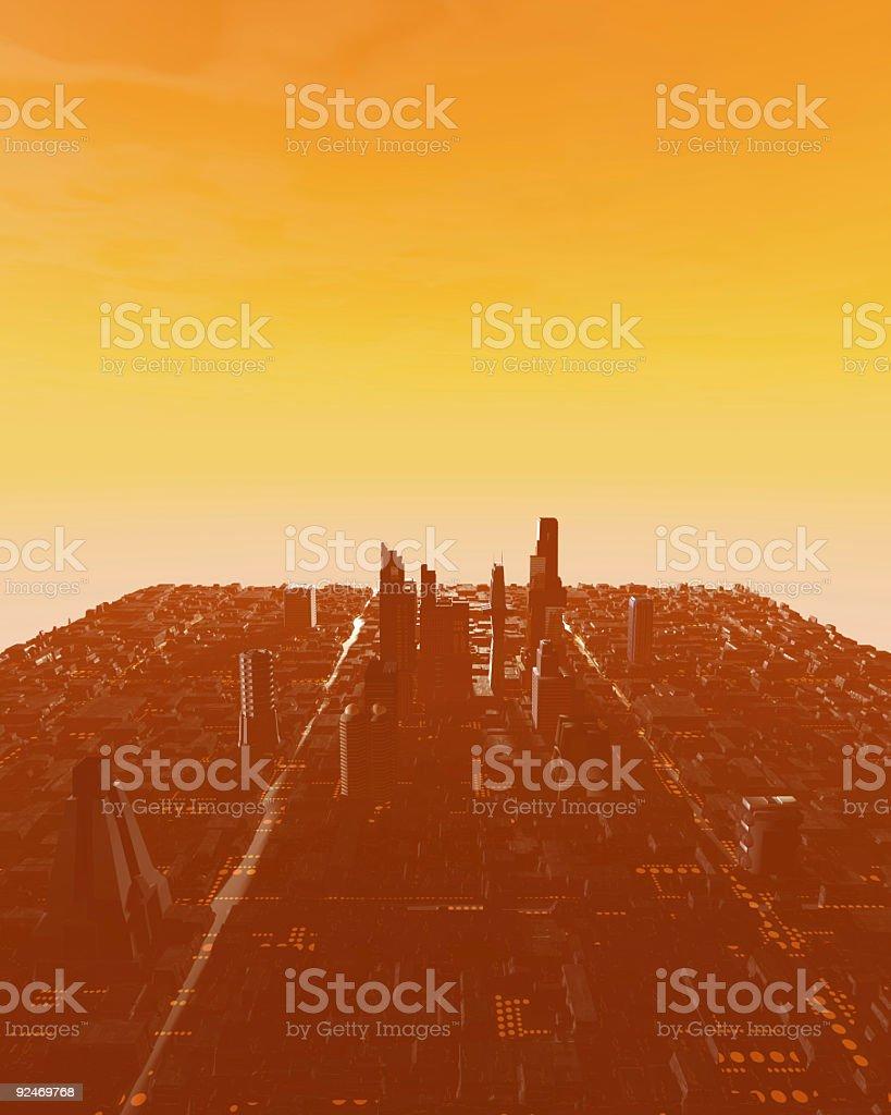 NightScapes V6 (Sunset Sky) royalty-free stock photo