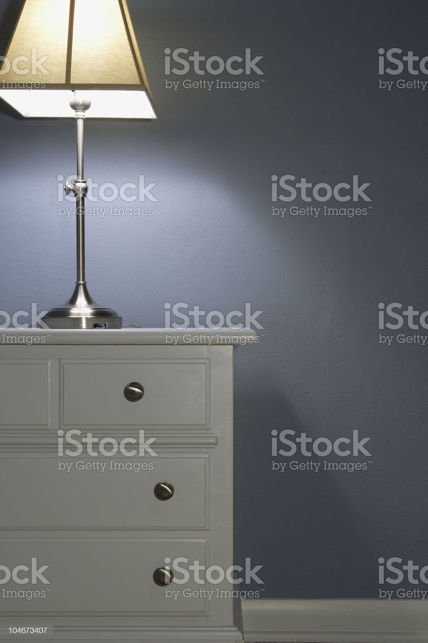 Nightstand and table lamp royalty-free stock photo