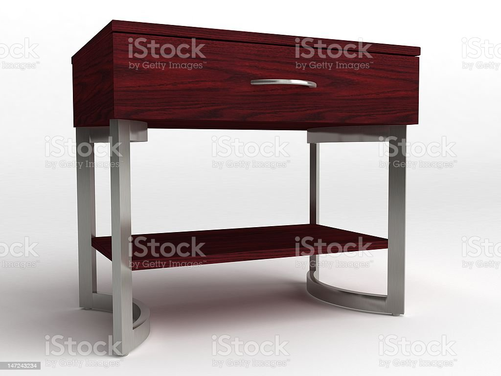 Nightstand isolated on white background. royalty-free stock photo