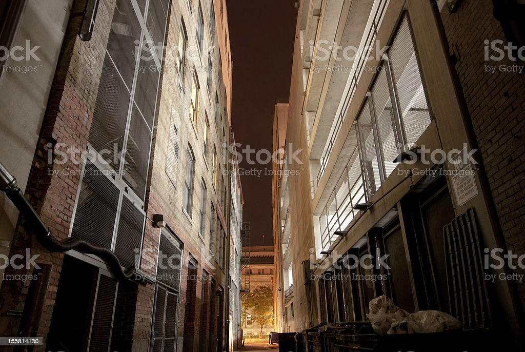 Nighttime Alley stock photo