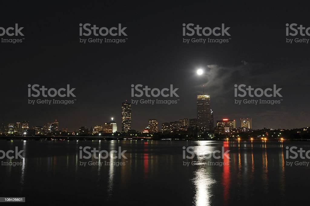 Nighttime at the Charles stock photo