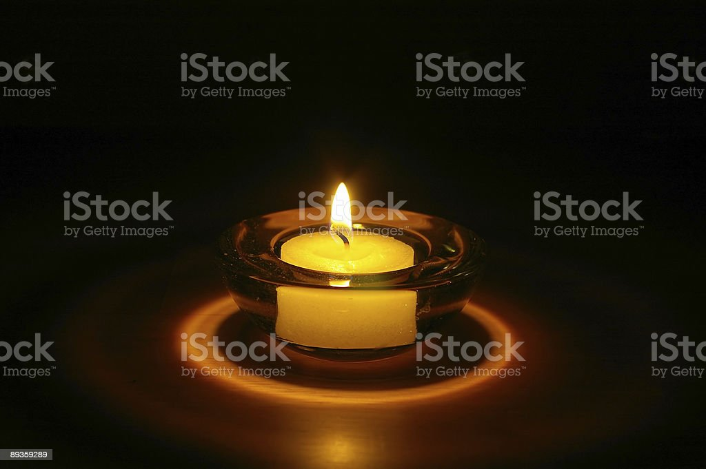 Nighttime Candle royalty-free stock photo