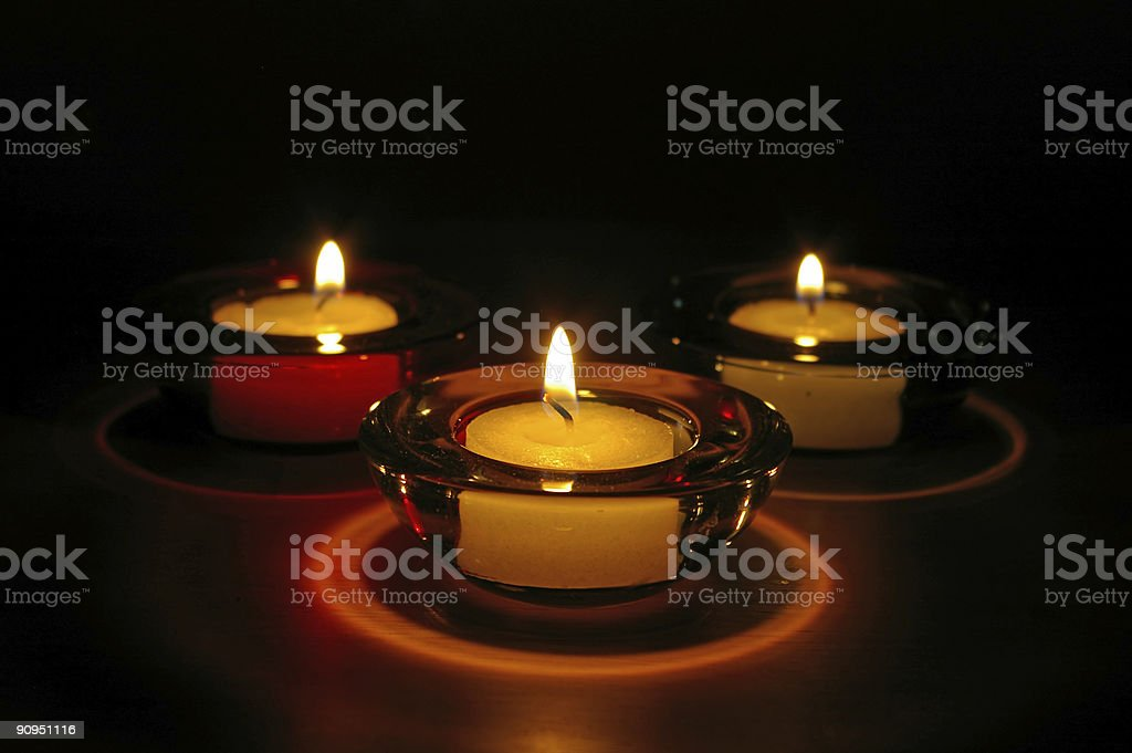 Nighttime Candles royalty-free stock photo