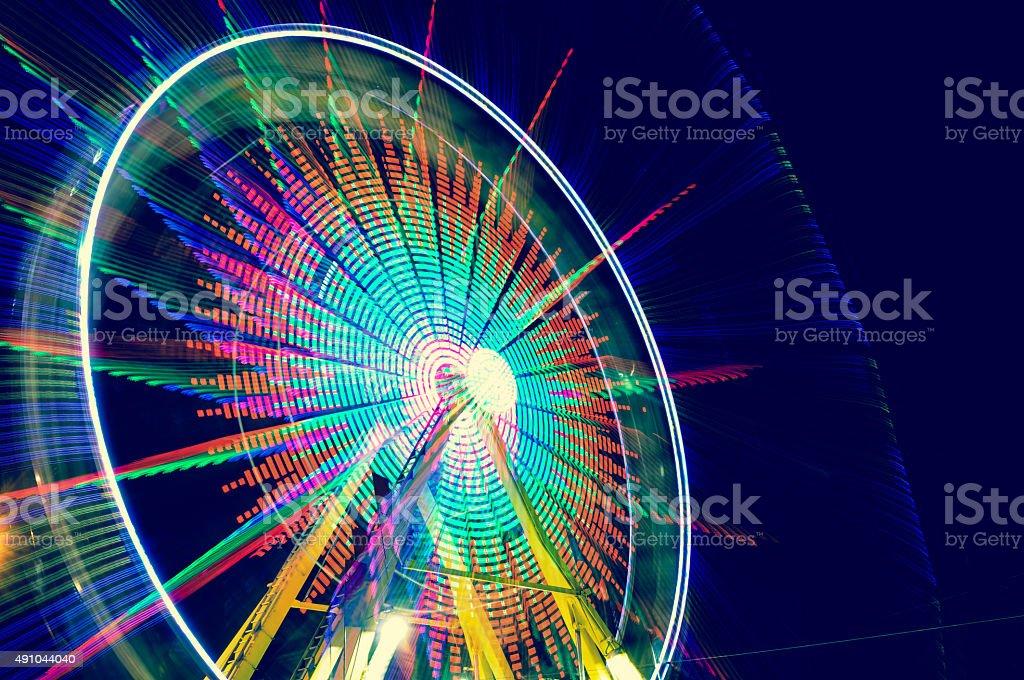 Nighttime Ferris Wheel stock photo