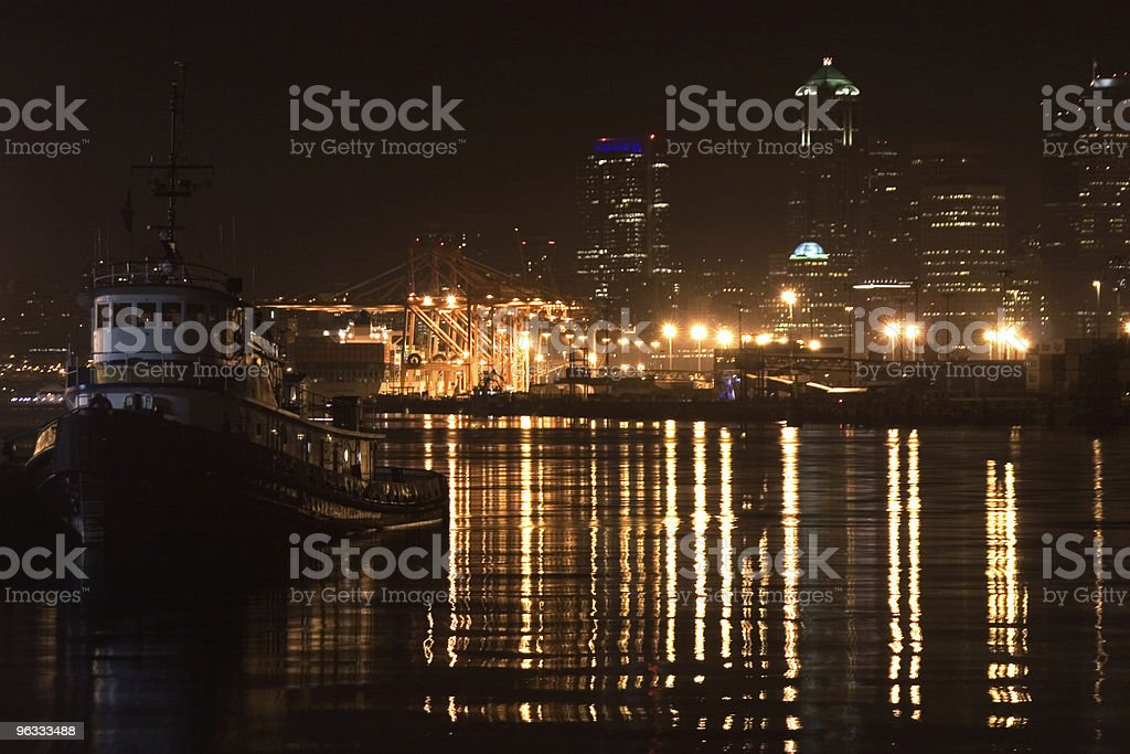 Nighttime Harbor royalty-free stock photo