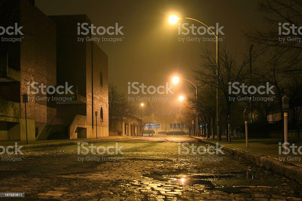 Nighttime Mist stock photo