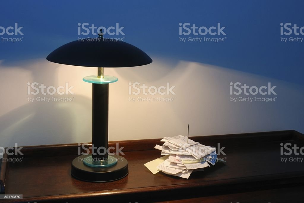 Nighttime Receipts stock photo