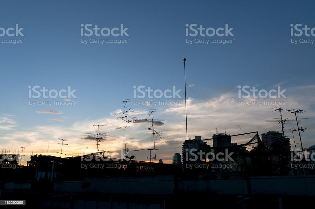 Nighttime Rooftop View royalty-free stock photo