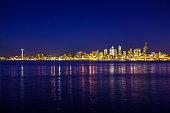 Nighttime Seattle Cityscape