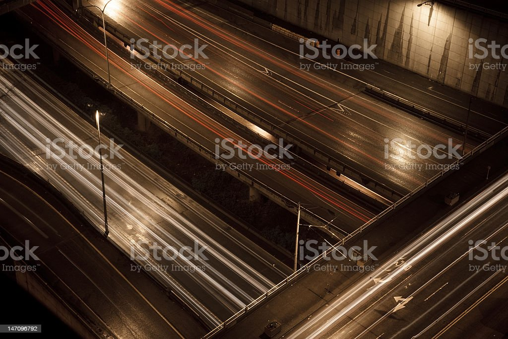 Nighttime traffic royalty-free stock photo