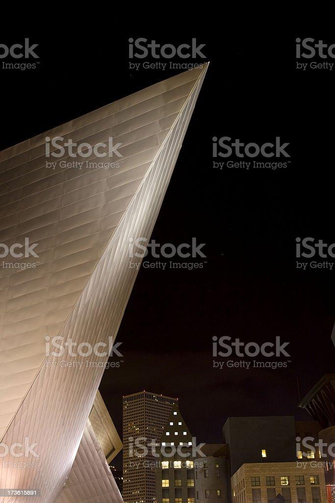Nighttime Triangle, Denver Art Museum Colorado stock photo