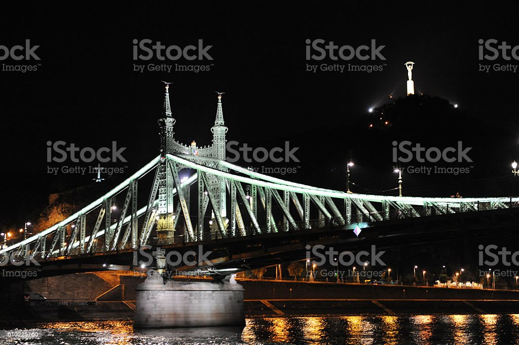 nightview from the donau stock photo