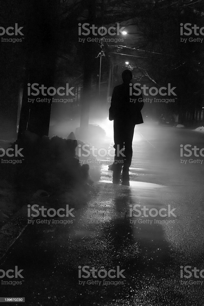 Nightwalk stock photo