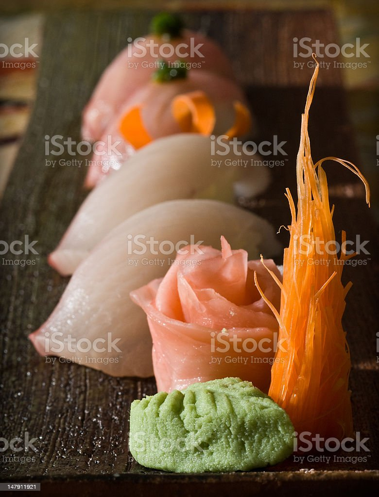 nigiri sampler plate royalty-free stock photo