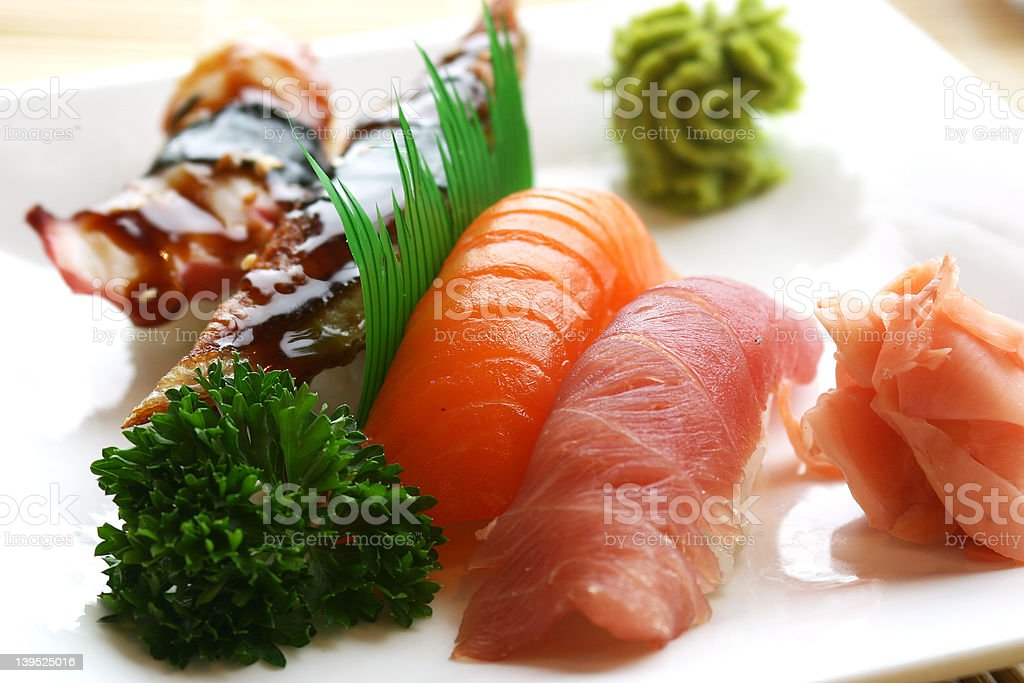 Nigiri Sushi royalty-free stock photo