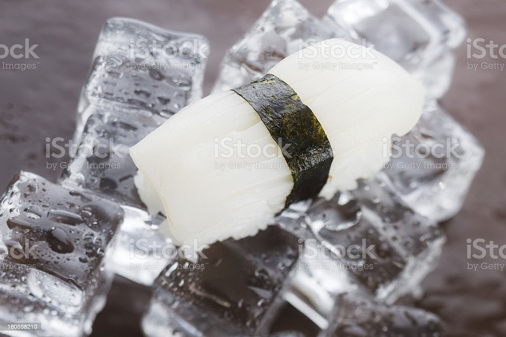 Nigirizushi on ice royalty-free stock photo