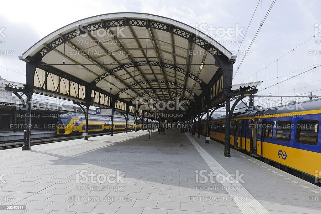 Nijmegen railway station stock photo