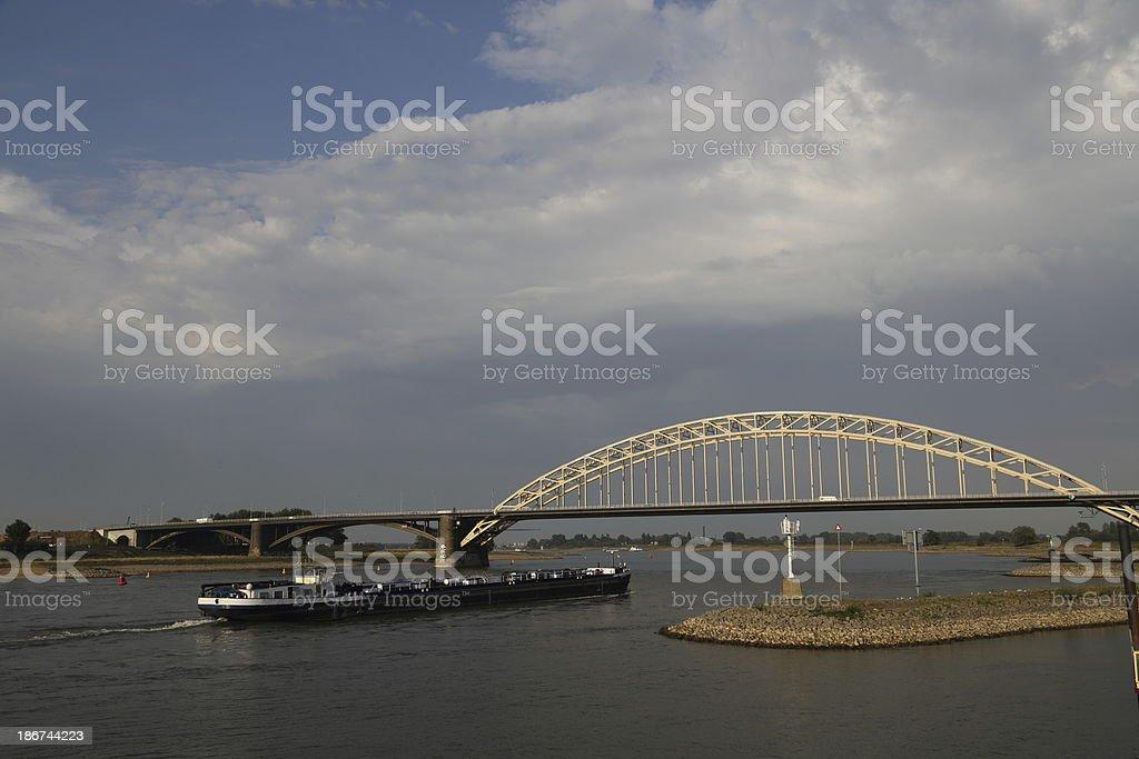 Nijmegen road bridge stock photo